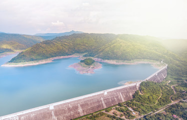The light that shines into the dam that holds water for the dry season. Key water management in the country