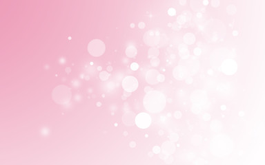 Sweet pink sparkle rays lights with bokeh elegant show on stage abstract background. Dust sparks background.