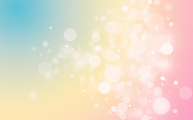 Pastel color sparkle rays lights with bokeh elegant show on stage abstract background. Dust sparks background.