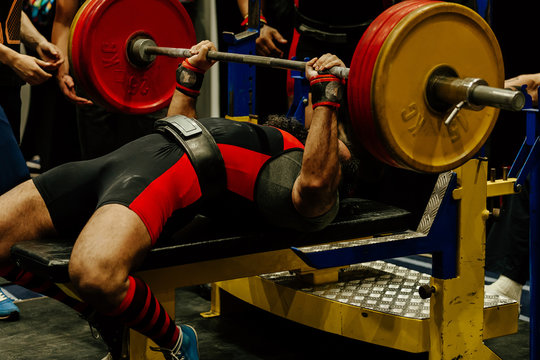 bench press indian athlete attempt with heavy barbell