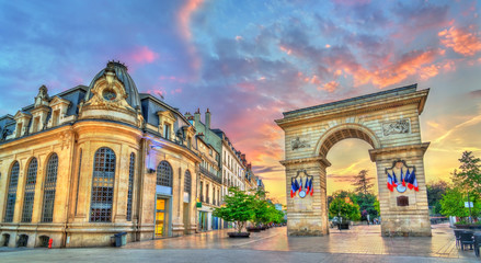 The Guillaume Gate at sunset in Dijon, France Wall mural