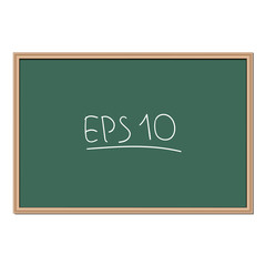 Vector background. School chalkboard for notes and messages.