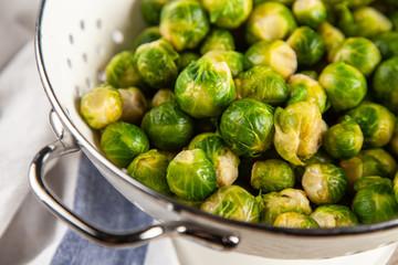 Fotoväggar - Fresh brussles sprouts