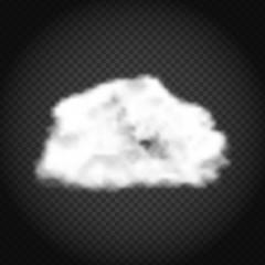 Realistic Cloud Vector Illustration on Transparent Background