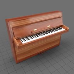 Open vertical piano