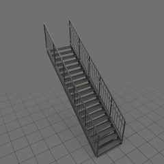 Straight industrial staircase1