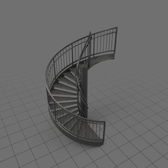 Curved industrial staircase 1