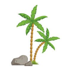 Tree palms cartoon