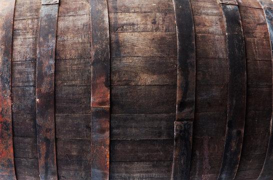 Oak barrel closeup