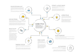 Business Icon Bubbles Infographic Layout