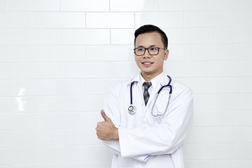 Young medical doctor man