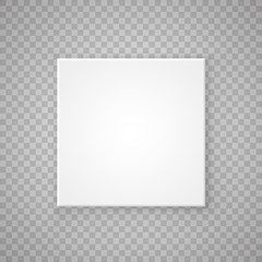 Open paper Square box on a transparent background. Vector illustration