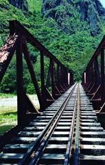 Pont au Pérou sur la route du Machu Picchu