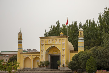 Front of Eidgah in Kashgar, China