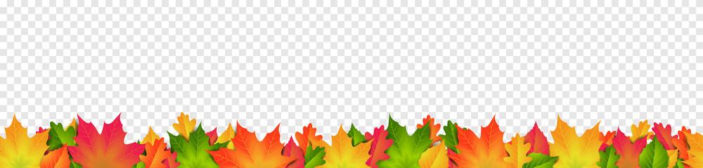 Herbst Blätter bunt Banner Muster nahtlos wiederholend