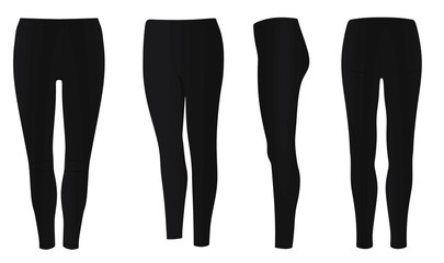 Women black pants. vector illustration