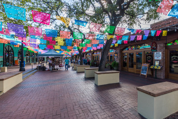 Historic Market Square Mexican Shopping Center tourist destination in San Antonio Texas