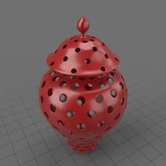 Arabic pierced ceramic lantern