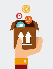 Delivery design icom vector ilstration