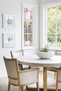 modern interior of a dining room