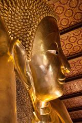 Face of the Reclining Buddha at Wat Pho