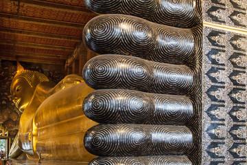 Wat Pho Reclining Buddha from Feet to Head