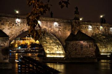 night scene in Prague, Czech Republic