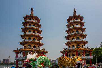 The Dragon and Tiger Pagoda in Kaohsiung