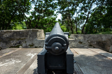 A cannon in a fort in Tainan, Taiwan.