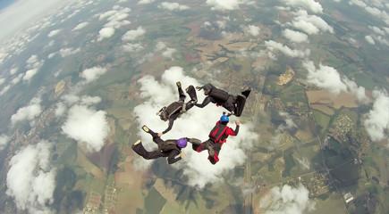 Skydiving 4 way team