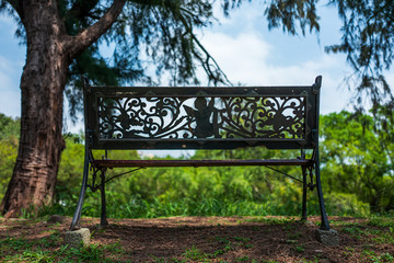 A bench at a fort in Tainan, Taiwan.