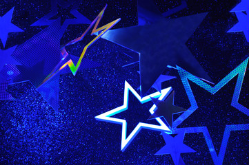 Christmas background with a star