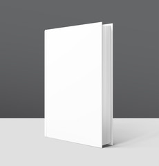 Mock up of blank cover book. Vector illustration. It can be used for promo, catalogs, brochures, magazines, etc. Ready for your design. EPS10.