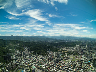 The view from the Taipei101 Tower in Taipei, Taiwan.