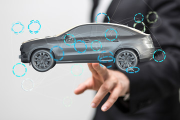 car digital in hand
