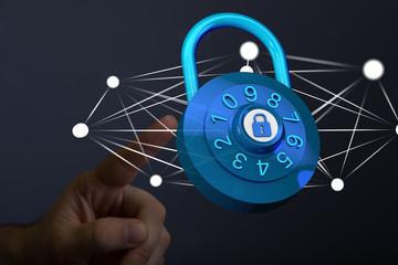 lock 3d in hand