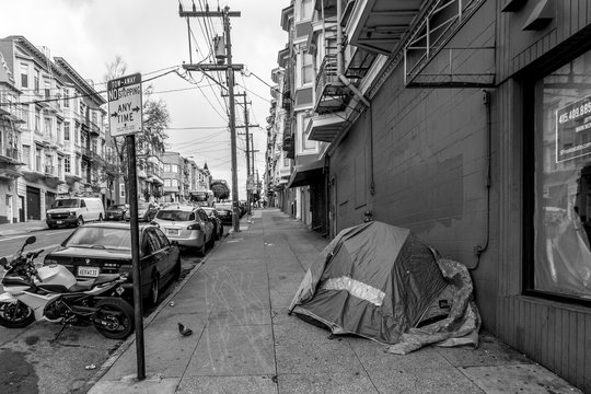 Homeless tent in San Francisco