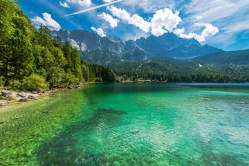 Wall Mural - Bavarian Lake Eibsee Germany