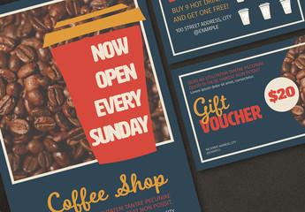 Coffee Shop Promotional Set Layouts