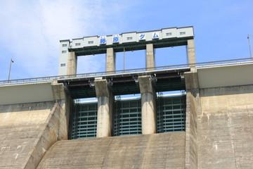 藤原ダムの水門部分(群馬県)