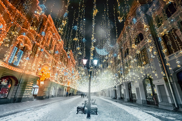 Christmass decorations in Moscow Fotomurales