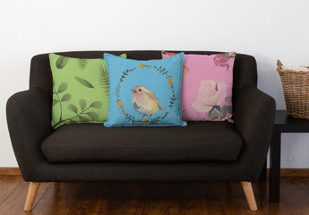 Couch and Pillows Mockup Set