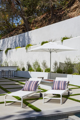 chaise lounge chairs outdoors