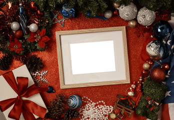 Frame Christmas decoration concept