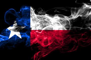 Photo sur Aluminium Texas Texas colorful smoking flag 2018.