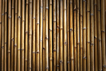 Brown Bamboo wall for Background