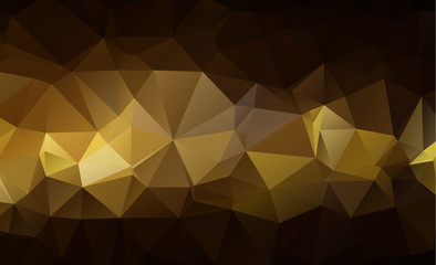 Light Orange vector Low poly crystal background. Polygon design pattern. Low poly illustration, low polygon background.