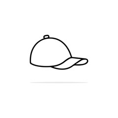 Cap icon. Vector concept illustration for design.