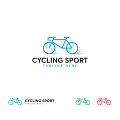 Cycling Sport logo designs template, Fast Bycicle logo template