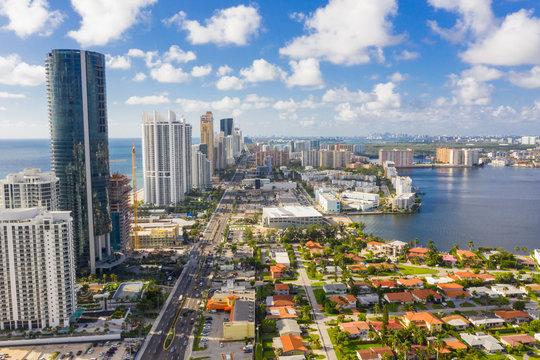 Aerial photography Miami Dade Sunny Isles Beach FL